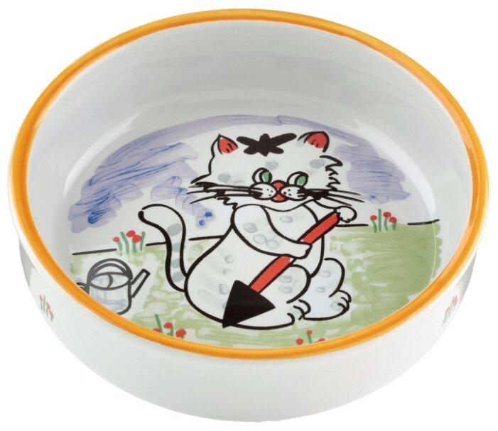 Миска Beeztees 13 см с изображением кошки