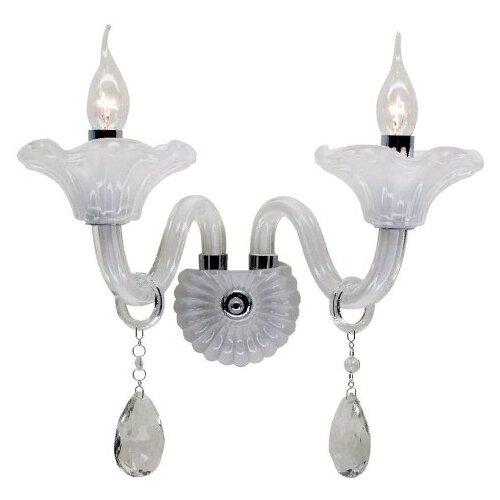Настенный светильник Citilux Ирида CL351320, E14, 120 Вт, кол-во ламп: 2 шт., цвет арматуры: серебристый настенный светильник citilux медея cl436321 120 вт