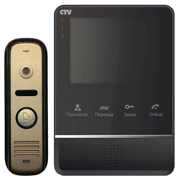 Комплектная дверная станция (домофон) CTV-DP2400МD желтый (дверная станция) черный (домофон)