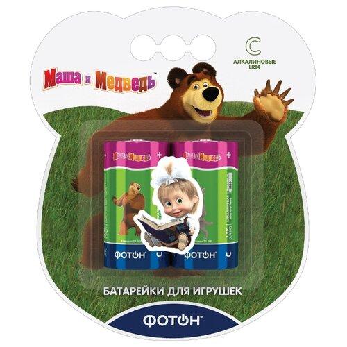 Фото - Батарейка ФОТОН C/LR14 Маша и медведь 2 шт блистер кукла карапуз маша в костюме матроса 25 см