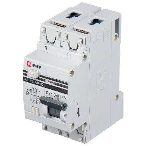 Дифференциальный автомат EKF АД-32 2П 30 мА C 32 А автомат ekf mcb47100 3 80c pro