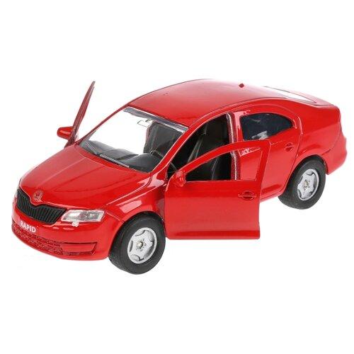 Легковой автомобиль ТЕХНОПАРК Skoda Rapid (SB-18-22-SR-N(BU/R)-WB) 12 см красный автомобиль технопарк гонки цвет в ассортименте ebs868 r