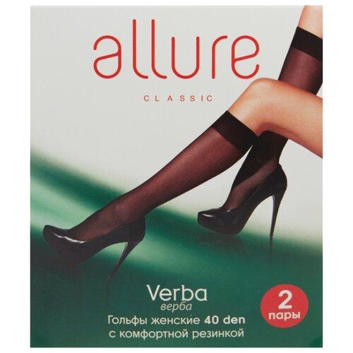 Капроновые гольфы ALLURE Verba 40 den, 2 пары, размер универсальный, caramello