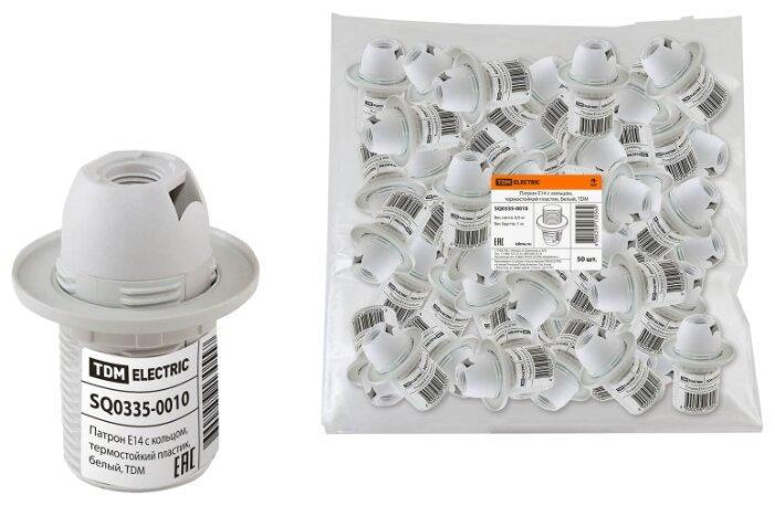 Купить Патрон Е14 с кольцом, термостойкий пластик, белый, TDM Electric (SQ0335-0010) по низкой цене с доставкой из Яндекс.Маркета (бывший Беру)