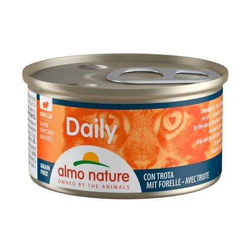 Фото - Корм для кошек Almo Nature Daily Menu с форелью 85 г консервы для кошек almo nature нежный мусс с уткой 85 г