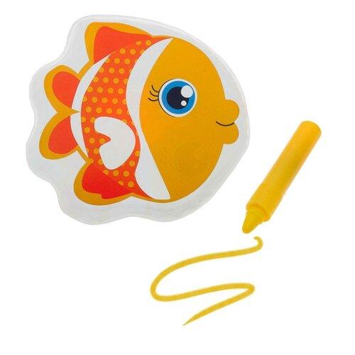 Купить Набор для ванной Крошка Я Рыбка + водный карандаш (3045300) желтый, Игрушки для ванной