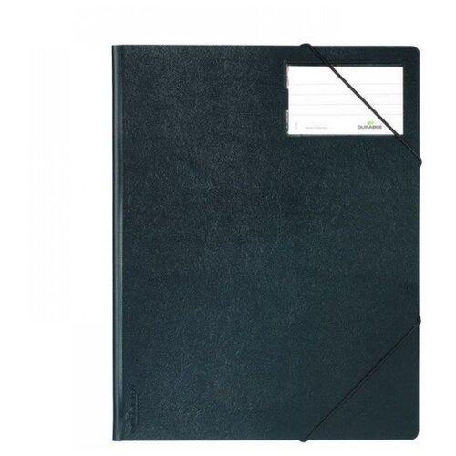 DURABLE Папка на резинках А4, 150 листов, с инфо-окном черный