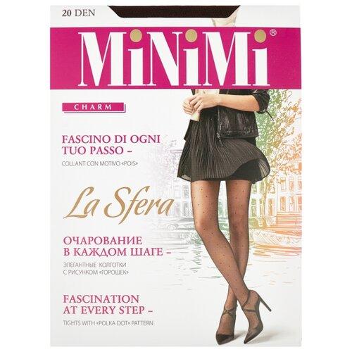 Колготки MiNiMi La Sfera 20 den, размер 4-L, cappuccino (коричневый) колготки minimi la sfera 20 den размер 5 xl daino бежевый