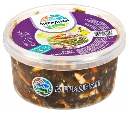 Меридиан Салат из морской капусты с кальмаром