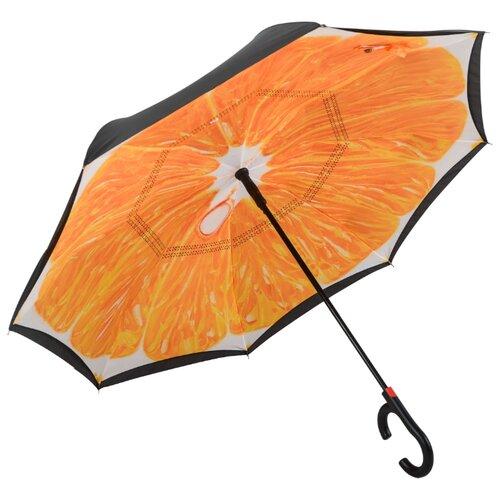 Зонт полуавтомат Maple Leaf Orange оранжевый / черныйЗонты<br>