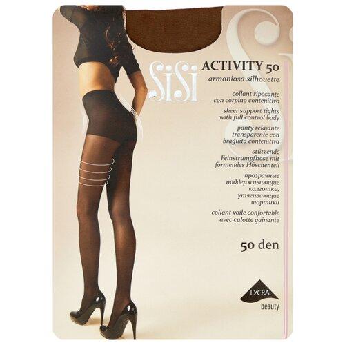 Фото - Колготки Sisi Activity 50 den, размер 5-MAXI XL, naturelle (бежевый) колготки sisi activity 30 den размер 3 m naturelle бежевый