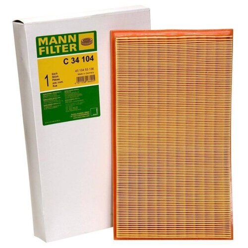 Панельный фильтр MANNFILTER C34104 панельный фильтр mando eaf00089m