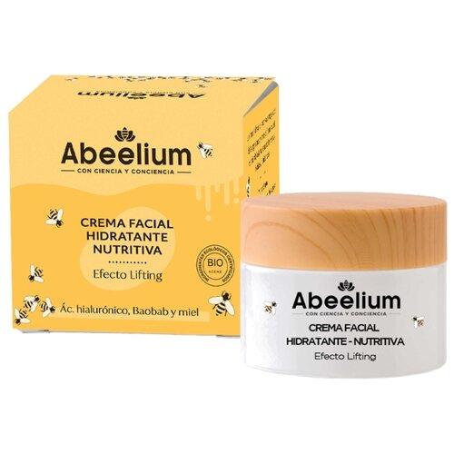 Abeelium Крем для лица увлажняющий и питательный с гиалуроновой кислотой, медом и маслом баобаба, 50 мл крем для ухода за кожей femegyl оживляющий с гиалуроновой кислотой 250 мл