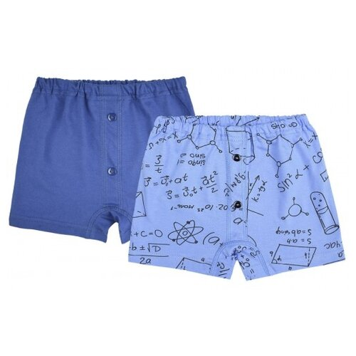 Трусы UNIK 2 шт., размер 110, темно-синий/голубой футболка для мальчика batik цвет темно синий голубой ds0173 10 11 размер 110