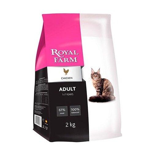 корм для кошек wildcat cheetah Корм для кошек Royal Farm (2 кг) Сухой корм для кошек Adult Chicken