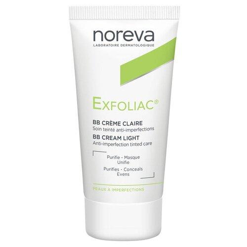 Noreva laboratories BB крем для проблемной кожи Exfoliac, 30 мл, оттенок: light noreva laboratories bb крем для проблемной кожи exfoliac 30 мл оттенок light