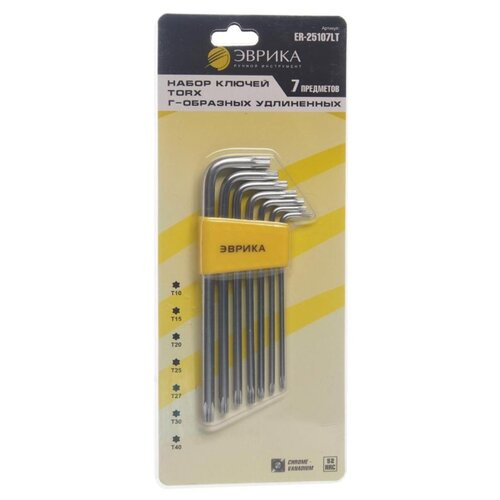 Набор имбусовых ключей Эврика (7 предм.) ER-25107LT желтый