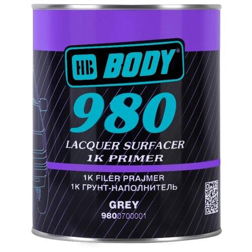 Грунт-праймер HB BODY 980 банка серый 1 л аэрозольный грунт праймер hb body p961 аэрозоль серый 0 4 л