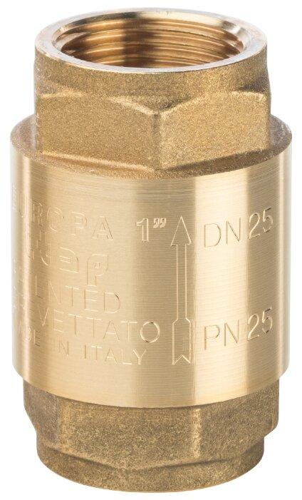 Обратный клапан пружинный STOUT SVC-0001-000025 муфтовый (ВР/ВР), латунь
