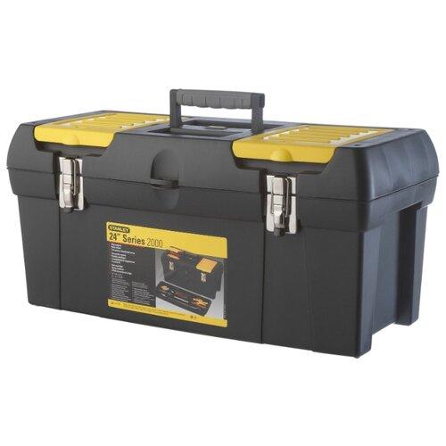 Ящик с органайзером STANLEY 1-92-067 61x27x28.4 см 24'' черный/желтый ящик stanley 1 97 514 со съемным органайзером 24 67x32 3x25 1см