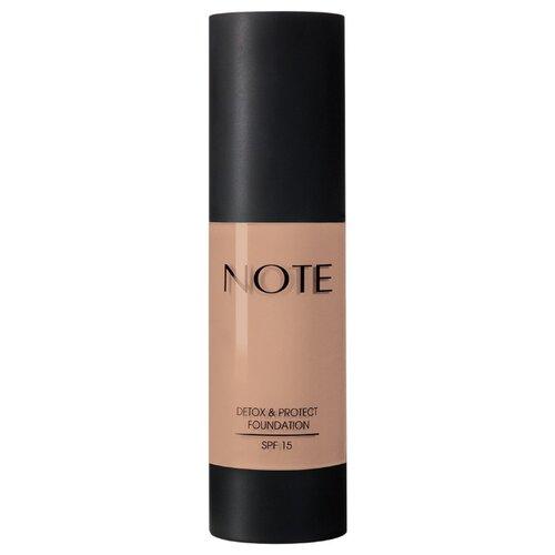 Купить Note Тональный крем Detox & Protect Foundation, 35 мл, оттенок: 116 golden beige