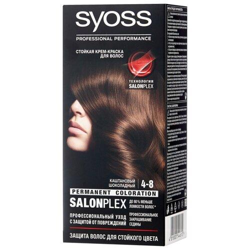Syoss Color Стойкая крем-краска для волос, 4-8 Каштановый шоколадный краска для волос syoss syoss sy001lwjoj90