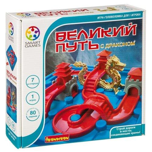 Купить Головоломка BONDIBON Smart Games Великий путь с драконом (ВВ3798) синий/красный, Головоломки