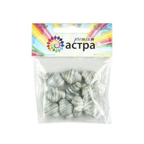 Купить Astra & Craft бусины Premium 7712150 GS-232 серый, Фурнитура для украшений