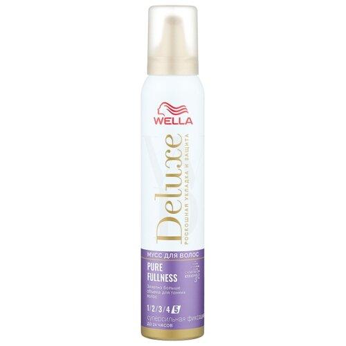 Wella Deluxe мусс для волос Pure Fullness, 200 мл wella deluxe мусс для волос 24 wonder volume 75 мл