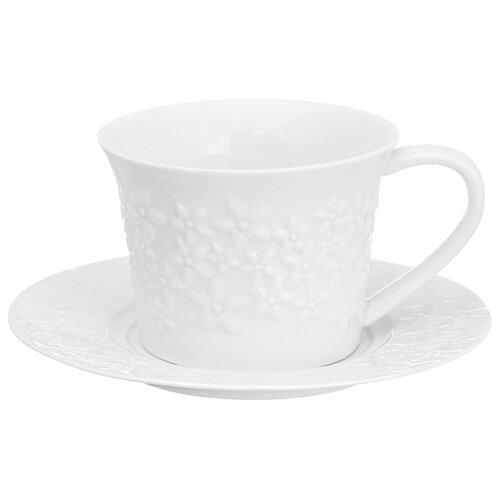 цена на Elan gallery Чайная пара Цветочки белый