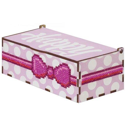 Гранни Набор алмазной вышивки Хеппи розовая (W0057) 15х8х6 смАлмазная вышивка<br>