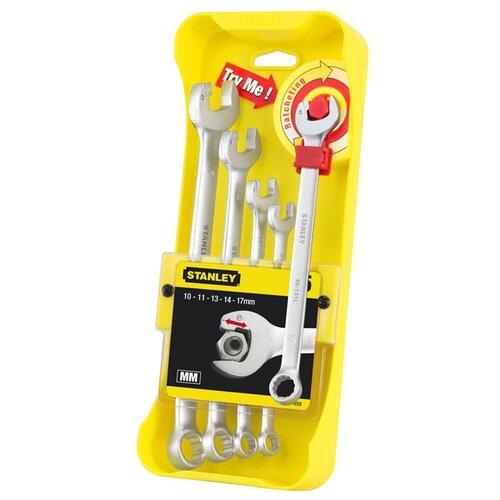 Набор гаечных ключей STANLEY (5 предм.) 4-95-659 серебристый/желтый stanley ratcheting wrench 4 95 660