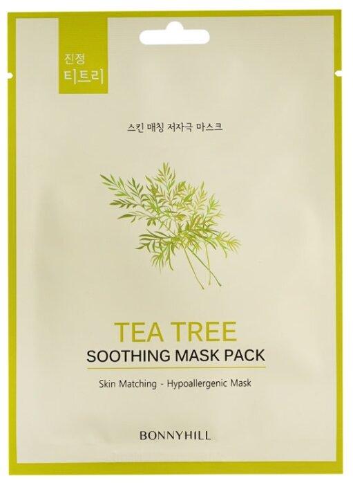 BONNYHILL Успокаивающая тканевая маска с маслом чайного дерева