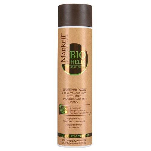 Купить Markell шампунь-уход Bio Helix для интенсивного питания и восстановления волос с муцином улитки 250 мл
