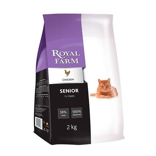 корм для кошек wildcat cheetah Корм для кошек Royal Farm (2 кг) Сухой корм для кошек Senior Chicken