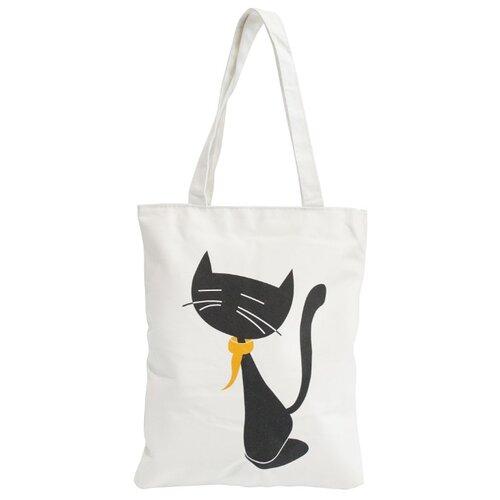 Сумка тоут Kingth Goldn C188, текстиль, кошка в желтом платке сумка тоут kingth goldn c187 3 4 7 8 9 текстиль