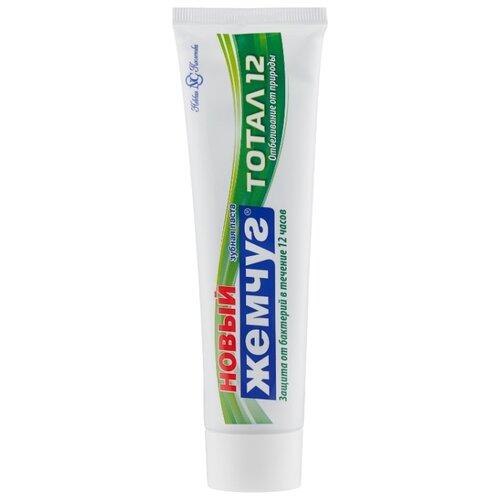 Зубная паста Новый Жемчуг Тотал 12 Отбеливание от природы, гвоздика и корица, 100 мл