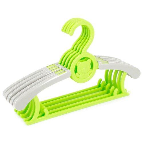 Вешалка Удачная покупка Набор YJ18 серый/зеленый