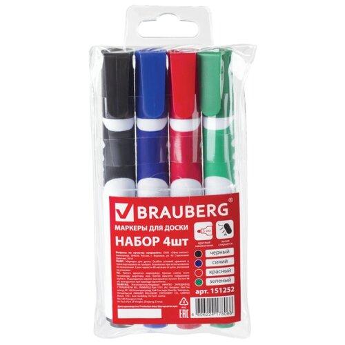 Купить BRAUBERG Маркеры для доски, 4 шт (151252)