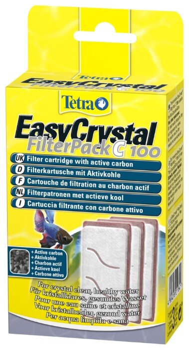 Tetra картриджи EasyCrystal Filterpack C 100 (комплект: 3 шт.)