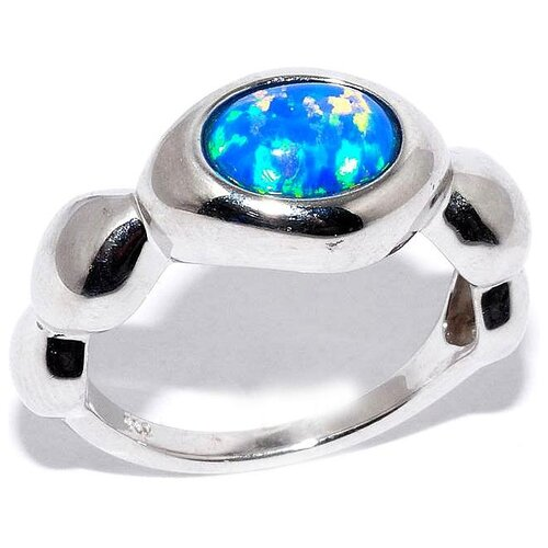 Silver WINGS Кольцо с опалами из серебра 21ar3257sso#5-148, размер 17 фото