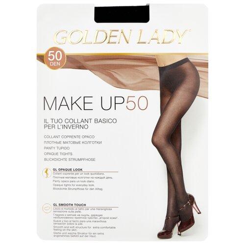 Колготки Golden Lady Make Up 50 den, размер 4-L, nero (черный) колготки golden lady dynamic 40 den размер 4 l nero черный