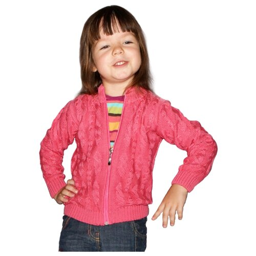 Купить Кардиган Golden Kid`s Art размер 116, темно-розовый, Свитеры и кардиганы