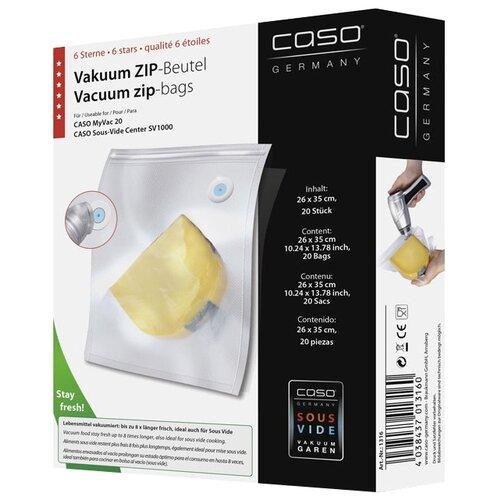 Caso Пакеты 26x35 для вакуумного упаковщика бесцветный 20 шт.
