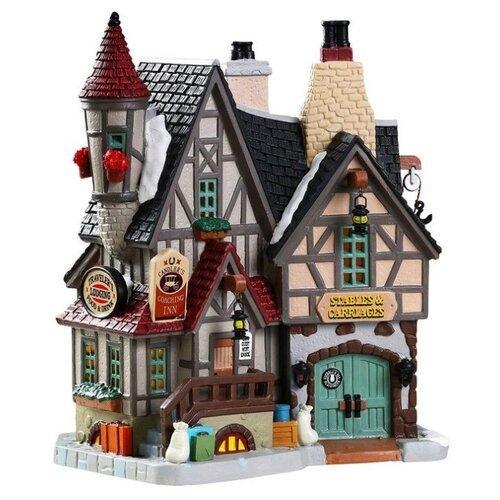 Фигурка LEMAX домик Для добрых путников 19.4 х 17.5 х 12.2 см бежевый/серый/коричневый по цене 10 710