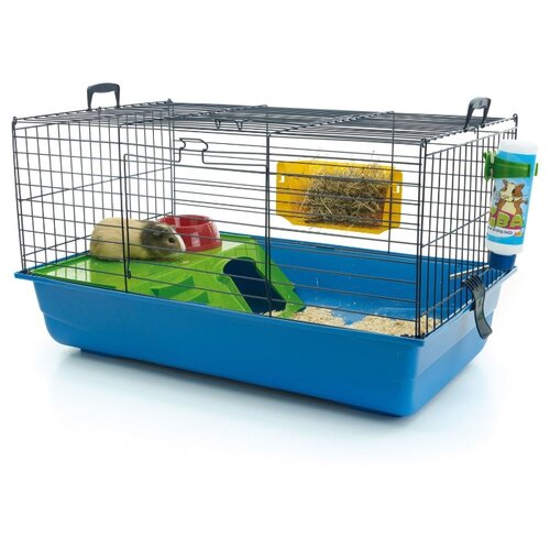 Клетка для хорьков, кроликов SAVIC Nero 2 De Luxe 5208-5901 80х50х44 см синий