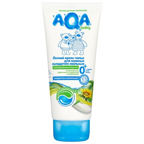 AQA baby Крем-тальк легкий для кожных складочек 100 мл диадерм крем тальк