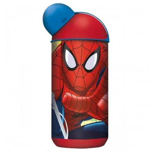 Бутылка для воды, для безалкогольных напитков Stor эрогономичная 0.4 пластик Человек-паук Красная паутина