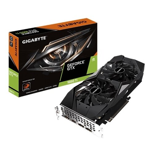 Купить Видеокарта GIGABYTE GeForce GTX 1660 Ti 1770MHz PCI-E 3.0 6144MB 12000MHz 192 bit HDMI 3xDisplayPort HDCP WINDFORCE Retail