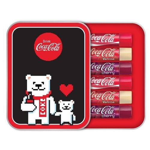 Фото - Lip Smacker Набор бальзамов для губ Coca-Cola annual tin-pixel lip smacker emoji smacker mickey ice cream bar